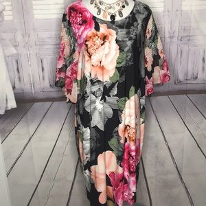 NEW CALVIN KLEIN SIZE 2X FLORAL WOMENS DRESS PLUS